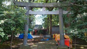 武蔵野八幡宮 文化十年造鳥居