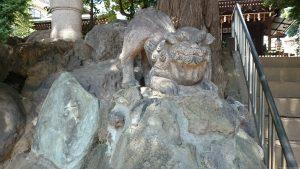 子易神社(板橋) 狛犬 (1)