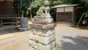 有賀神社 狛犬 吽