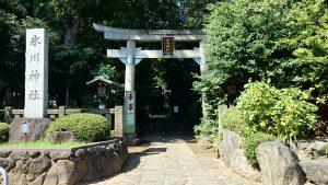 東新町氷川神社 一の鳥居と社号標