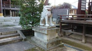 西台天祖神社 拝殿前狛犬 阿