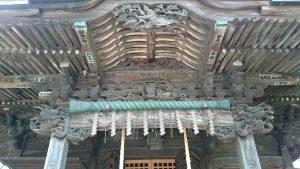 八王子多賀神社 向拝部