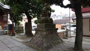 大森諏訪神社 狛犬 吽