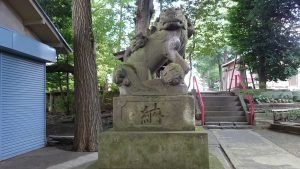 牟禮神明社(牟礼神明社) 狛犬 吽