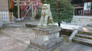西台天祖神社 拝殿前狛犬 吽