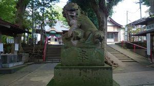 牟禮神明社(牟礼神明社) 狛犬 阿