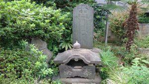 大森諏訪神社境外摂社・金山神社 古墳由来碑