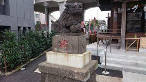 貴舩神社(貴菅神社) 大正4年狛犬 吽