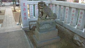 西台天祖神社 社頭の狛犬 (2)