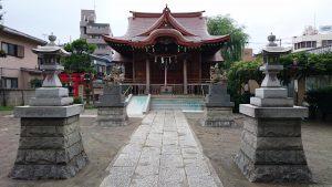 安方神社 拝殿前