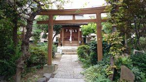 大森諏訪神社境外摂社・金山神社 二の鳥居