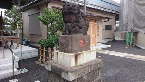 貴舩神社(貴菅神社) 大正4年狛犬 阿