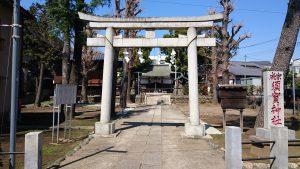 成宗須賀神社 鳥居と社号標