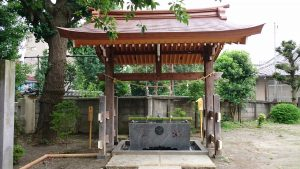 安方神社 手水舎