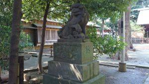 東新町氷川神社 嘉永3年狛犬 吽