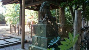 東新町氷川神社 嘉永3年狛犬 阿