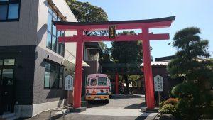 立石熊野神社(五方山熊野神社) 北参道鳥居