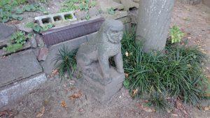葛西神社 宝永3年狛犬 (1)