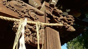 渋江白髭神社(客人大権現)  向拝