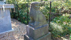 立石熊野神社(五方山熊野神社) 鋳造五重塔狛犬 (2)