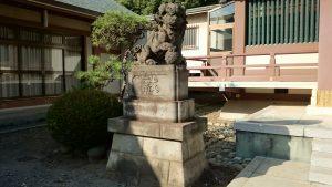 赤塚氷川神社 明治35年狛犬 吽