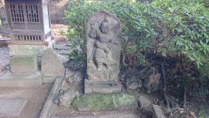 葛西神社 鍾馗石像(葛飾区指定有形民俗文化財)