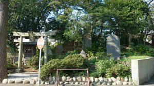 赤塚氷川神社 富士塚 全景