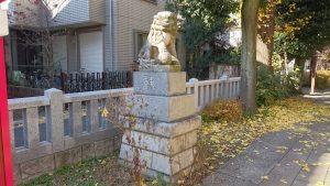 大和町八幡神社 参道入口狛犬 吽