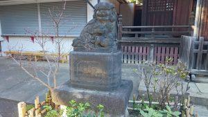 新井天神北野神社 拝殿前狛犬 (1)