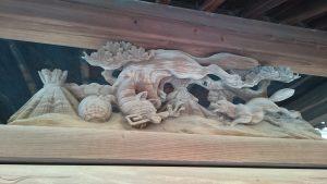 隅田稲荷神社 手水舎彫刻
