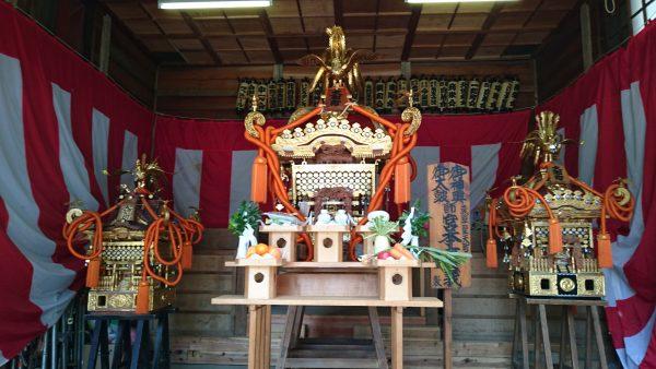 大和町八幡神社の神輿