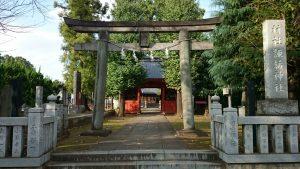 赤塚諏訪神社 鳥居と社号標