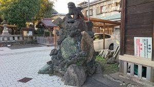 隅田稲荷神社 獅子山狛犬 阿