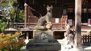 半田稲荷神社 狐像 吽