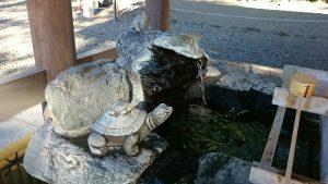 櫻木神社(野田市) 水盤