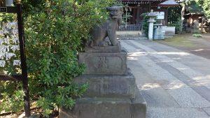 城山熊野神社 安政2年狛犬 吽