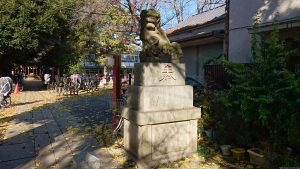 大和町八幡神社 参道中程狛犬 阿