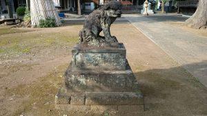 赤塚諏訪神社 狛犬 吽