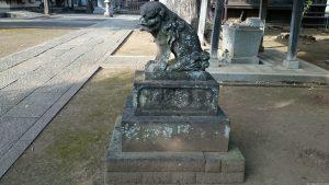 赤塚諏訪神社 狛犬 阿