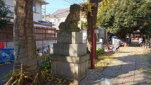 大和町八幡神社 参道中程狛犬 吽
