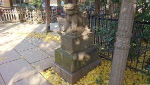 大和町八幡神社 拝殿前狛犬 阿