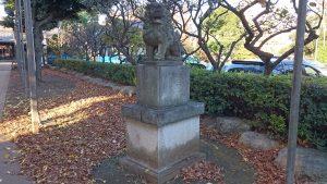 新井天神北野神社 参道狛犬 阿