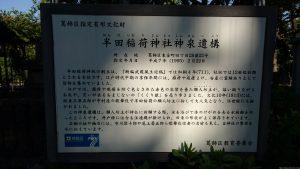 半田稲荷神社 神泉遺構 案内板