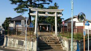 西熊野神社 鳥居と社号標