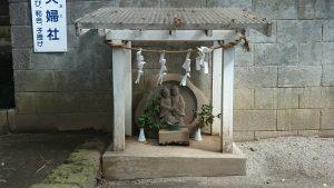 高松八幡神社 夫婦社 石像