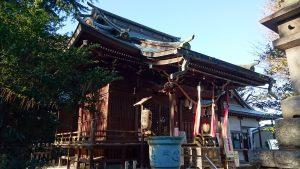 上高田氷川神社 拝殿