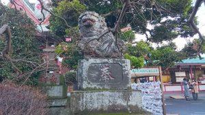 八幡八雲神社 明治42年狛犬 阿