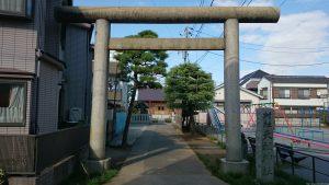 高砂天祖神社 鳥居と社号標