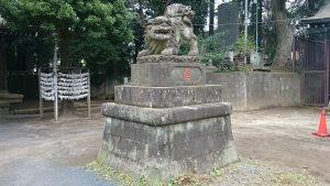 高松八幡神社 明治24年狛犬 阿