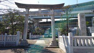 隅田川神社 二の鳥居と社号標